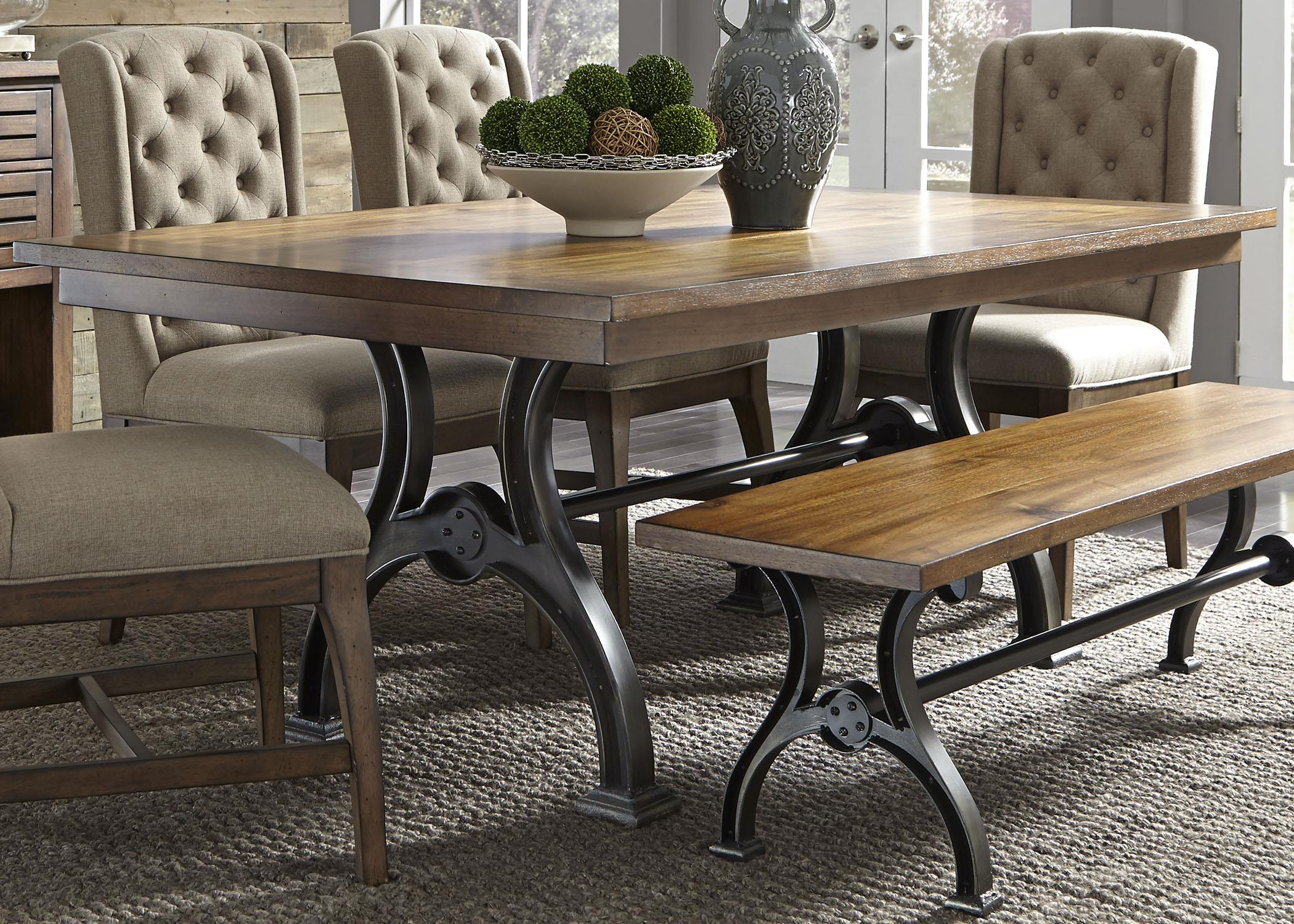 liberty dining chairs the empty chair gospel song furniture arlington trestle table with metal base wayside
