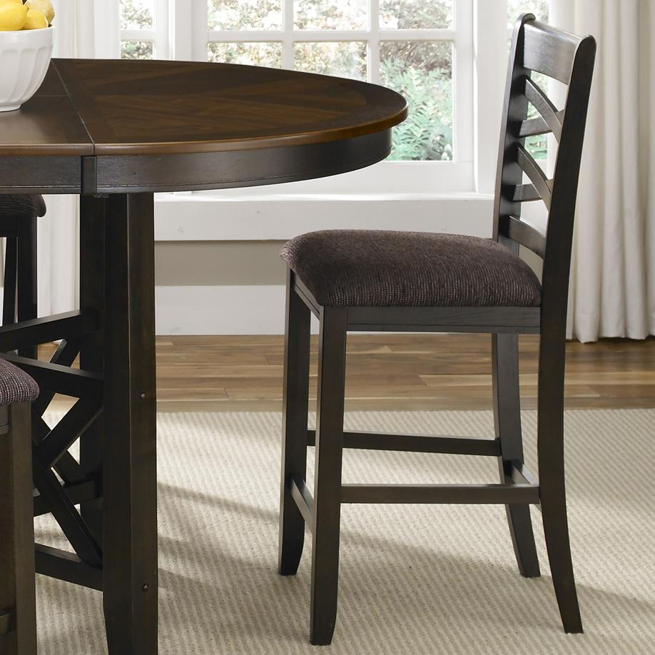 counter height chairs with back dorm chair slipcover pattern liberty furniture bistro ii double x