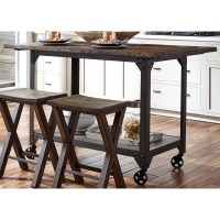 Causeway Counter Height Kitchen Island with Industrial ...