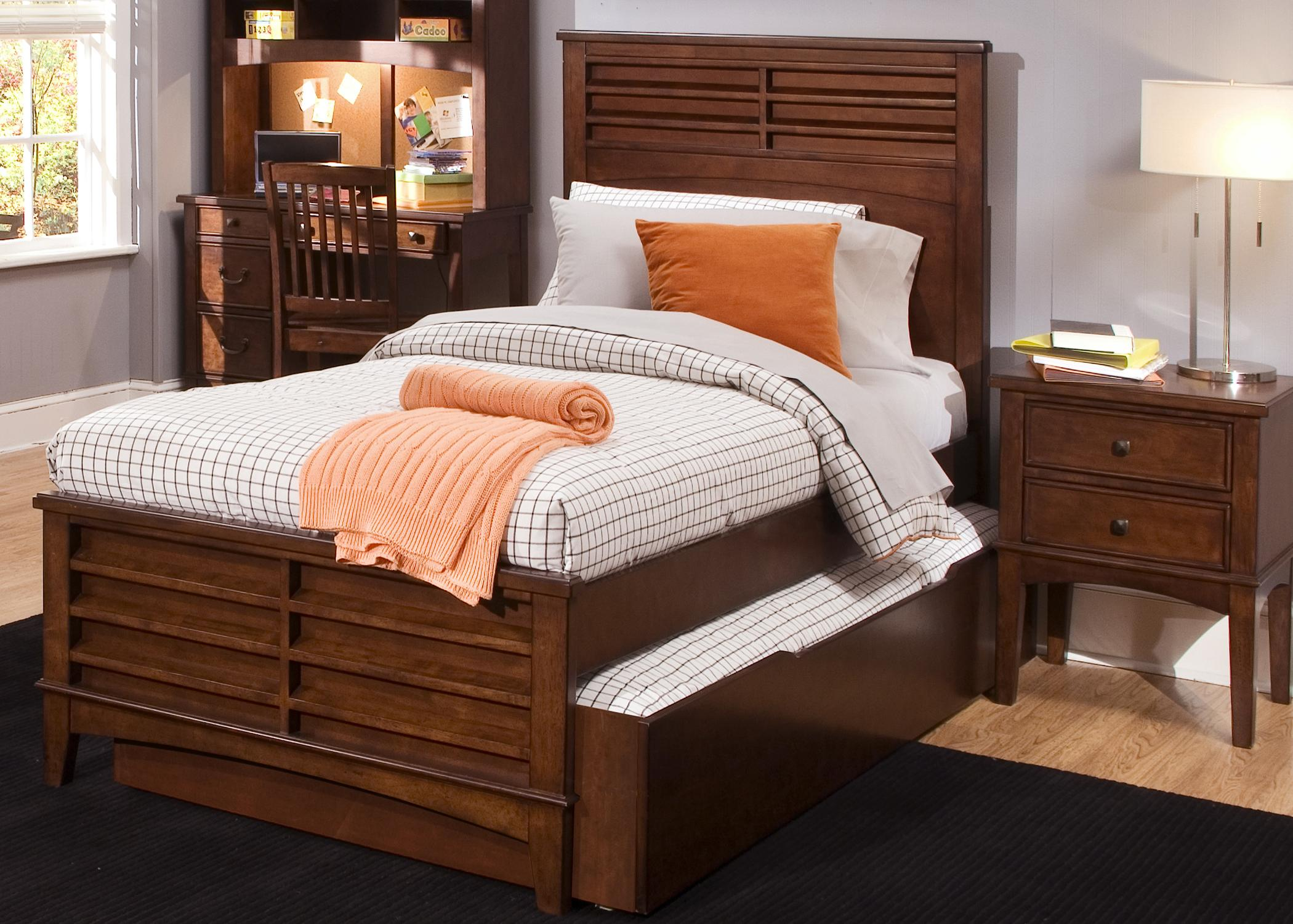 Liberty Furniture Chelsea Square Youth Full Size Panel Bed With Trundle Storage Drawer