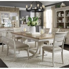 Table And Chairs With Bench Hanging Chair Ebay Au Sets Darvin Furniture 6 Piece Trestle Set