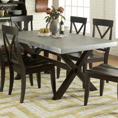 Steel Chair Dining Table Knoll Pollock Vendor 5349 Keaton Ii 219 T3876 Rectangle Trestle With