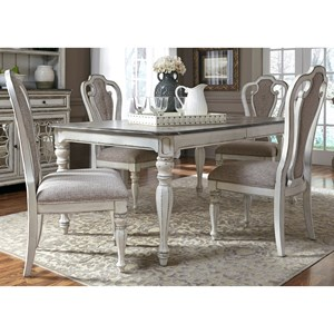 dinning room table and chairs antique koken barber chair for sale liberty furniture magnolia manor dining 244 dr 5rls 5 piece rectangular set with leaf hudson s sets