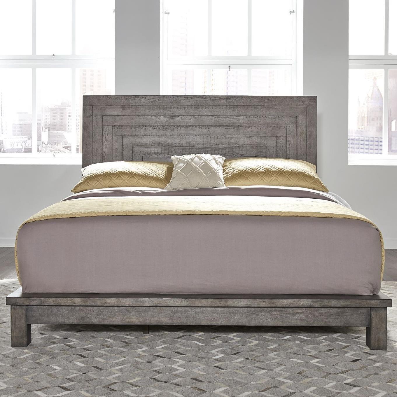 Liberty Furniture Modern Farmhouse Contemporary King Platform Bed Zak S Home Platform Beds Low Profile Beds