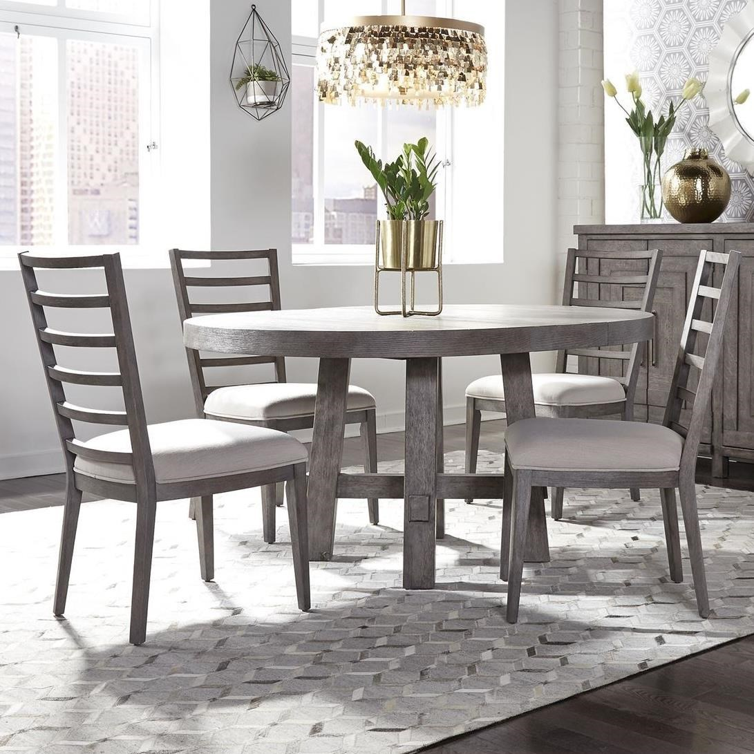 Liberty Furniture Modern Farmhouse 406 Dr 5ros 5 Piece Round Table And Chair Set Hudson S Furniture Dining 5 Piece Sets
