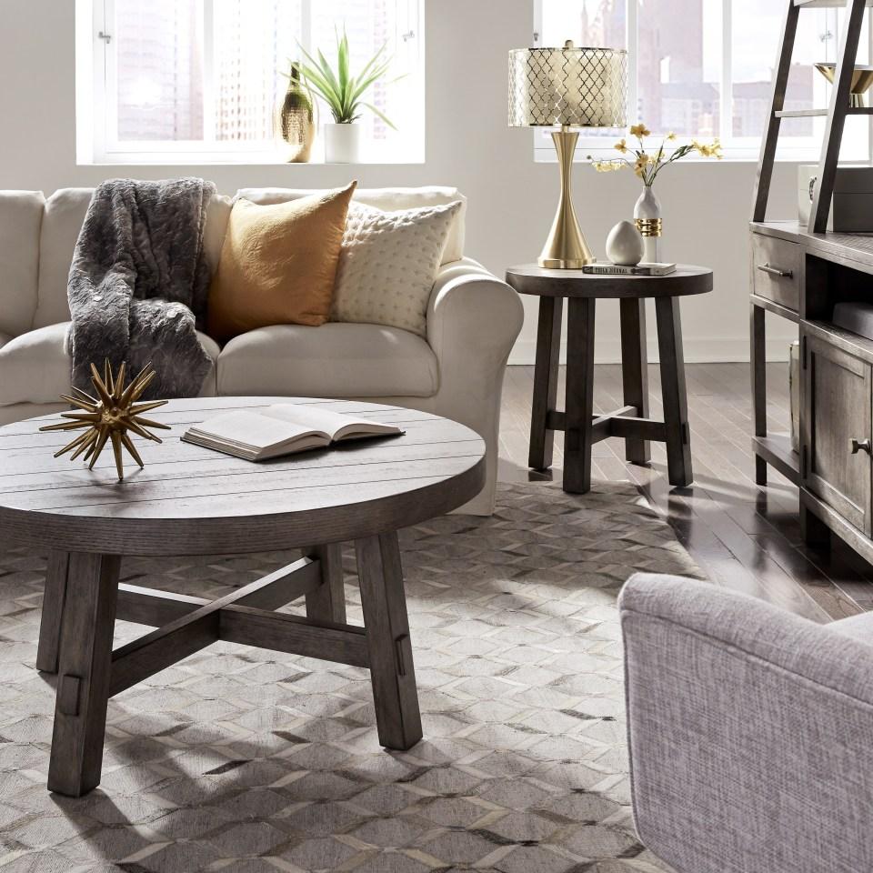 liberty furniture modern farmhouse contemporary splay leg