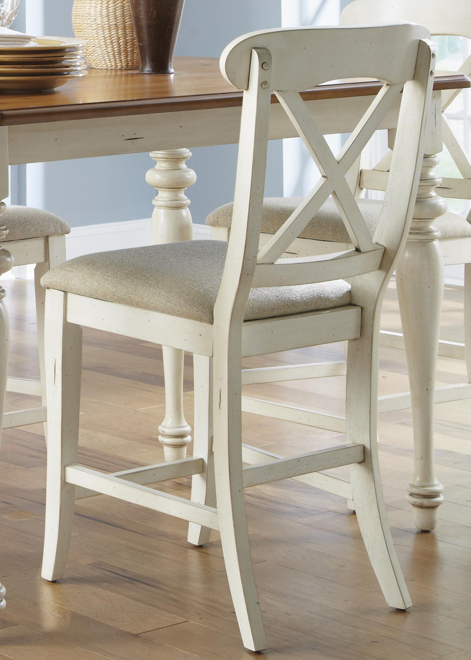 chair stools height fishing with wheels liberty furniture ocean isle x back counter dining stool