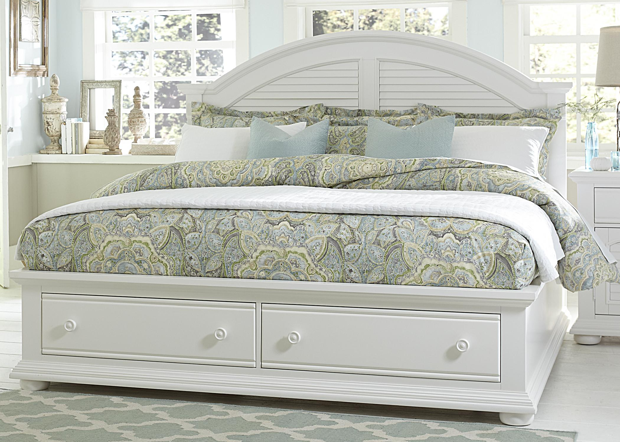 summer house queen storage bed