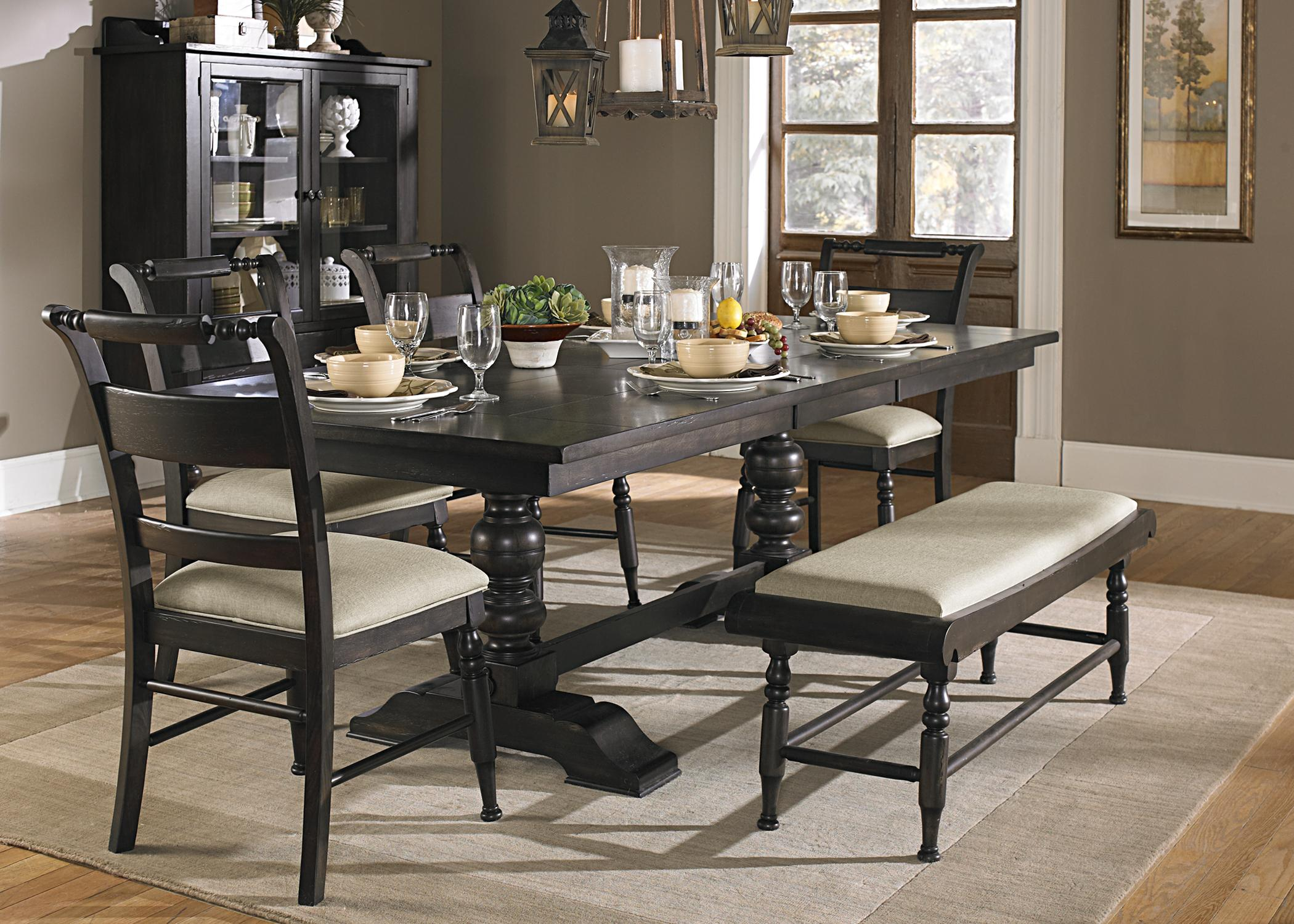 liberty dining chairs make up furniture whitney 6 piece trestle table set with bench