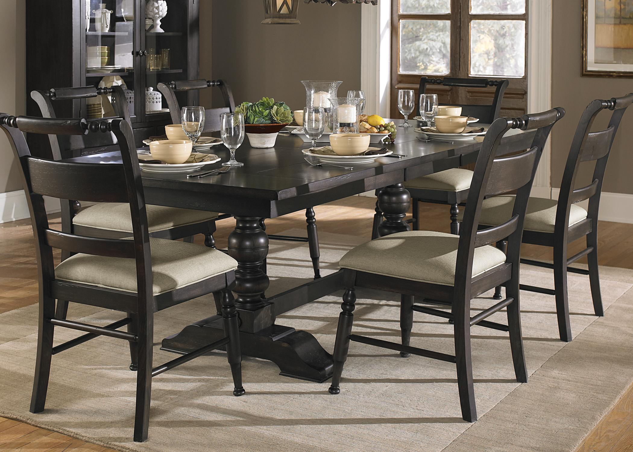 Dining Room Chair Sets Whitney 7 Piece Trestle Dining Room Table Set By Liberty Furniture At Royal Furniture