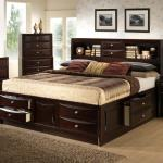 Lifestyle C0172 King California King Storage Bed W Bookcase Headboard Beck S Furniture Bookcase Beds