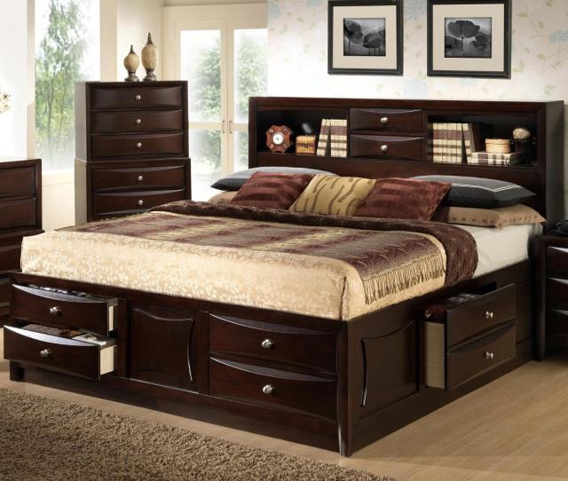 Queen Bookcase Bed With Storage