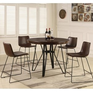table and chairs with bench outdoor steel chair design sets becker furniture world pub height stool set