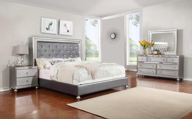 Glam 4 Piece Queen Bedroom Set Rotmans Bedroom Group Worcester