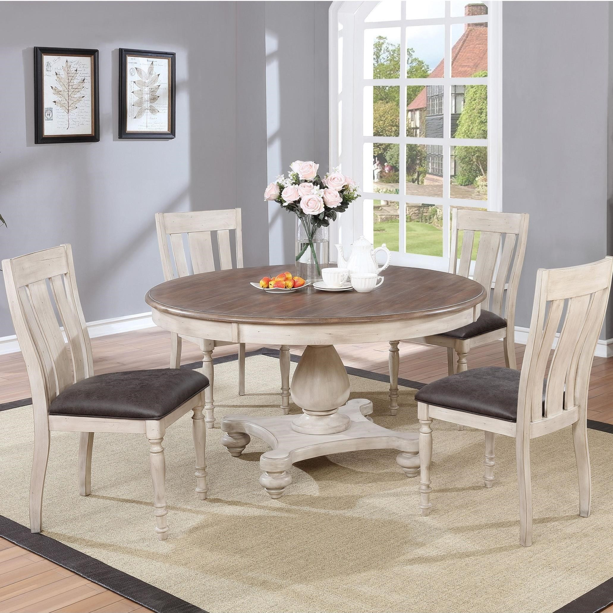 Black Dining Room Table And Chairs Harlow 5pc Farmhouse Dining Table Chair Set By Lifestyle At Rotmans
