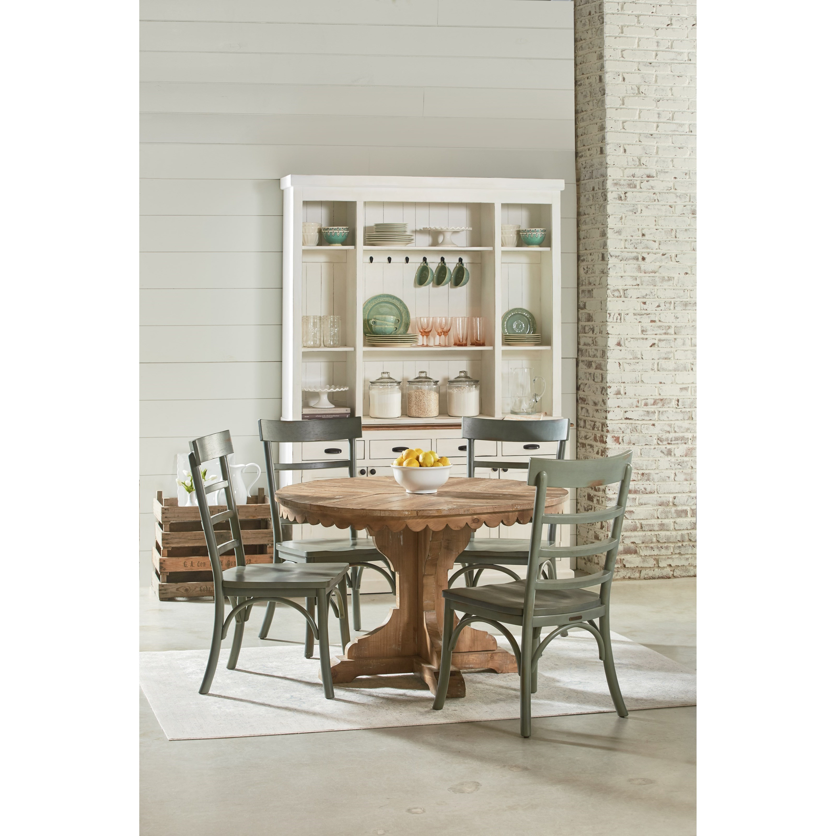 breakfast table and chairs set sling swivel rocker patio magnolia home by joanna gaines farmhouse five piece round chair