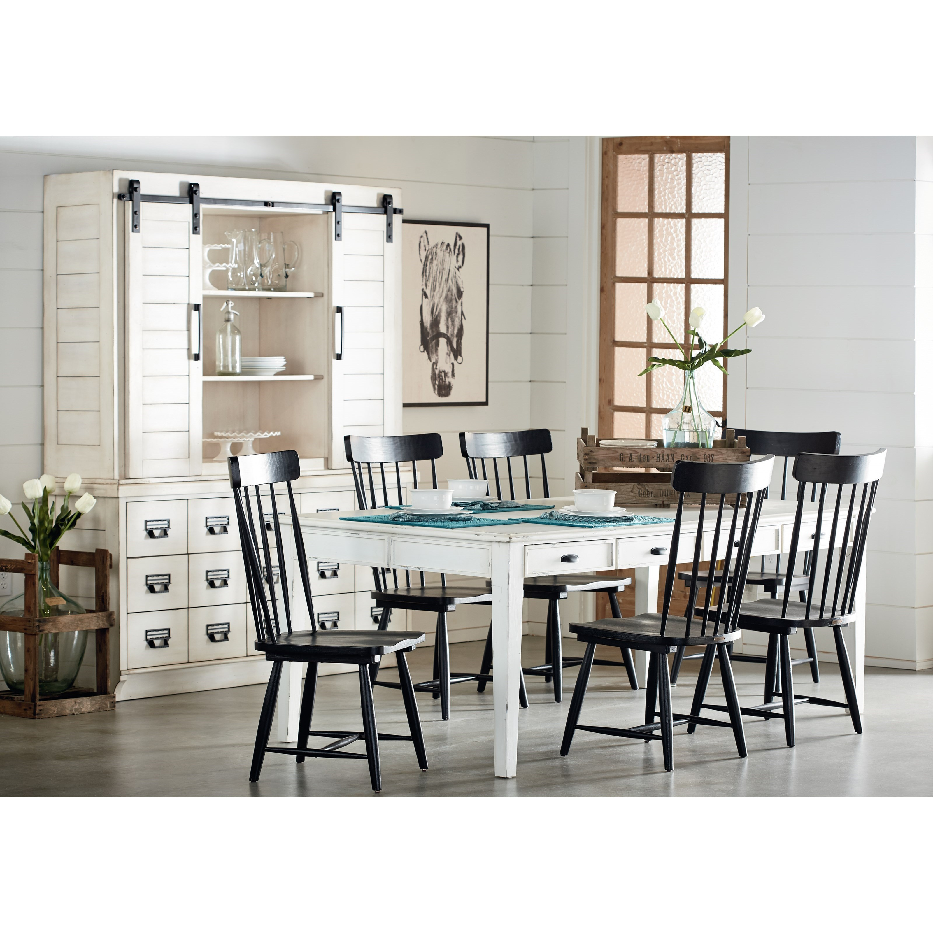 Magnolia Home By Joanna Gaines Farmhouse Kitchen Dining Group Jacksonville Furniture Mart Formal Dining Room Groups