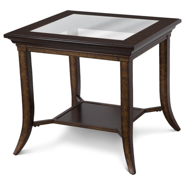 Magnussen Home Parsons Rectangular End Table With Glass Top Rotmans Tables