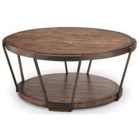 Magnussen Home Yukon Round Cocktail Table with Casters ...