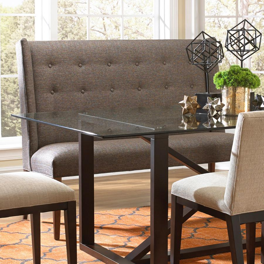 settee for kitchen table compact furniture bemodern dining items upholstered with tufted wing