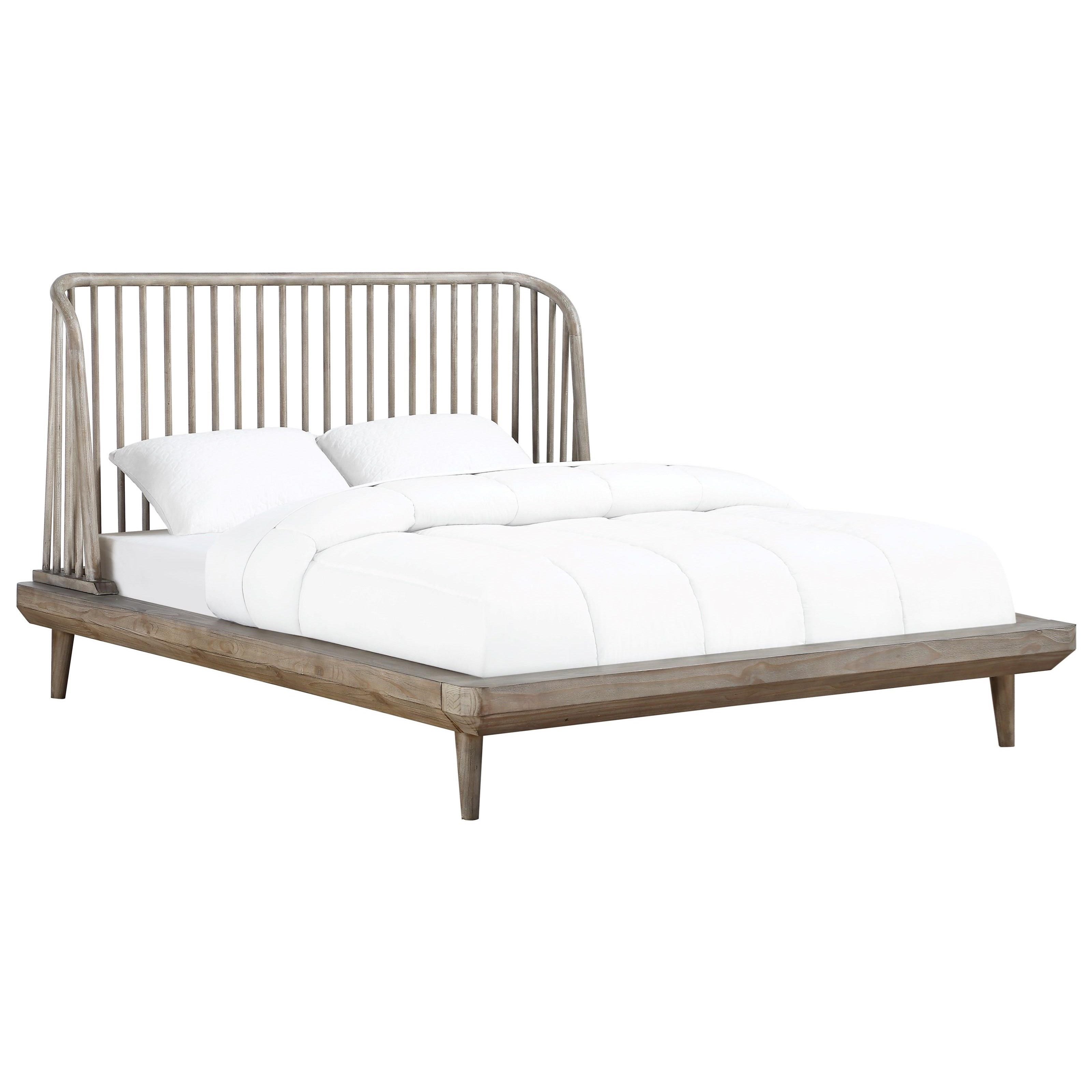 Modus International Spindle Queen Platform Bed With Spindle Headboard A1 Furniture Mattress Platform Beds Low Profile Beds