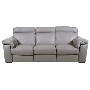 futura leather and vinyl power reclining sofa with headrest in stone single without backrest sofas homeworld furniture