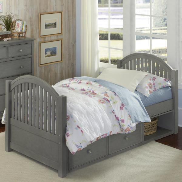 Ne Kids Lake House Twin Bed With Arched Headboard And Footboard Storage Wayside