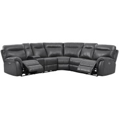 Sofa Rph Cheap Daybed Sofas New Classic Atlas Casual 5 Seat Power Sectional With Storage Console Dunk Bright Furniture