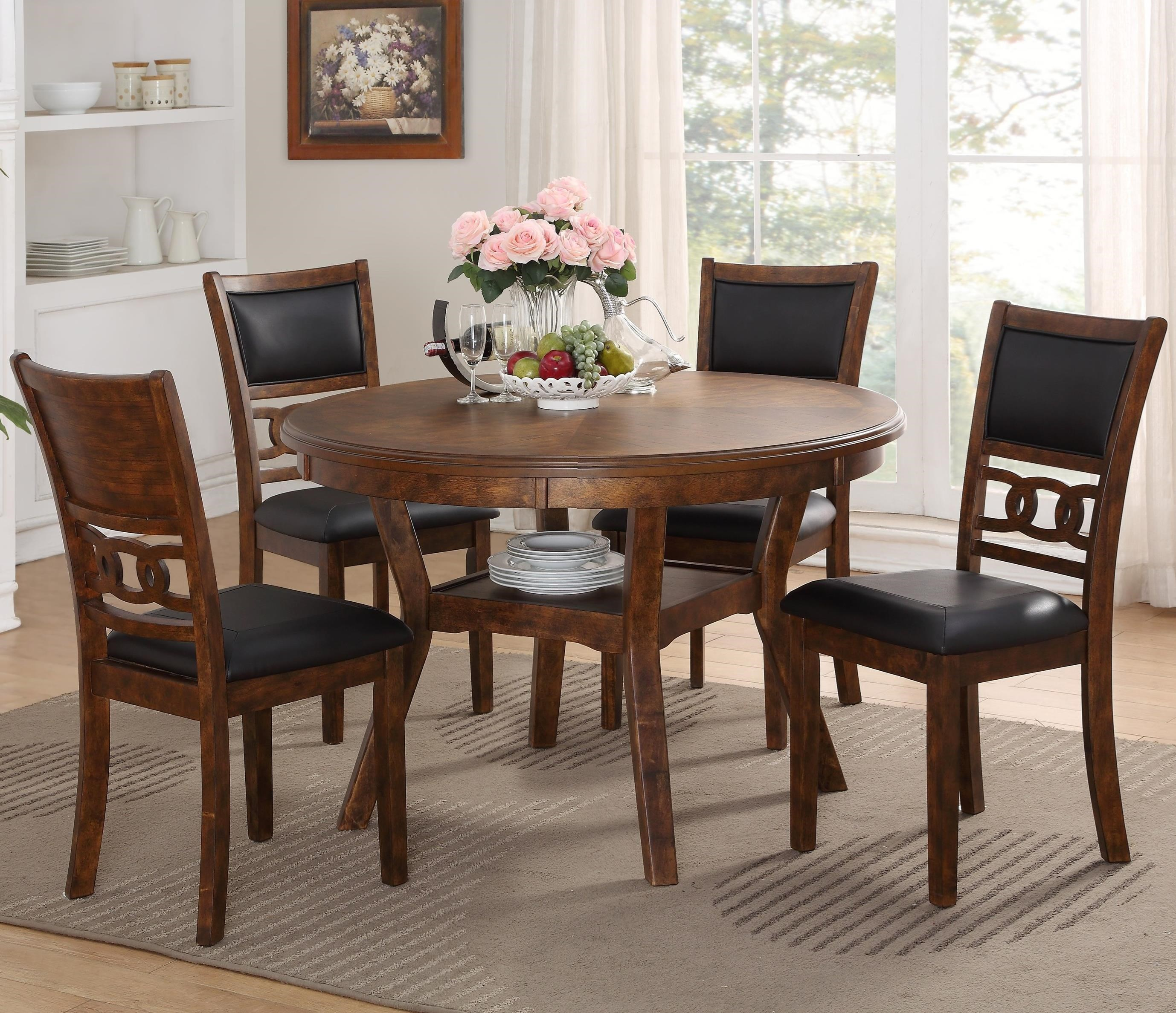Dining Room Chair Sets Gia Dining Table And Chair Set With 4 Chairs And Circle Motif By New Classic At Great American Home Store