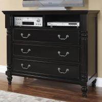 New Classic Martinique Bedroom Transitional 3 Drawer Media ...