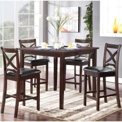 Dining Table And Chair Set Uk Brown Office Without Arms New Classic Milo Counter Height With Tapered