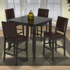 Pub Style Kitchen Set Thai Organic Coconut Milk 19 Small Table And Upholstered Chairs Lapeer Furniture Height