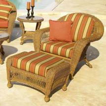 Chicago Wicker Charleston Outdoor Chair With Ottoman