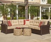 Northcape International Tisdale Wicker Outdoor Corner
