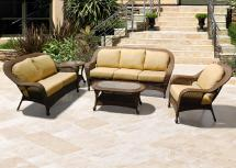 Chicago Wicker Winward Cocoa Woven Deep Seat Outdoor Sofa