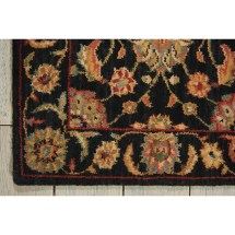 "Nourison Living Treasures 2'6"" X 12' Black Runner Rug"