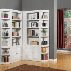 White Corner Units For Living Room Tile Floor Ideas Parker House Boca Bookcase Unit Wayside Furniture