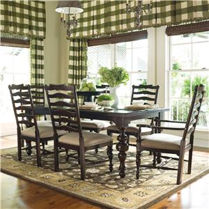 paula deen table and chairs breuer replacement seats backs home 932 by universal wayside furniture 7pc dining room