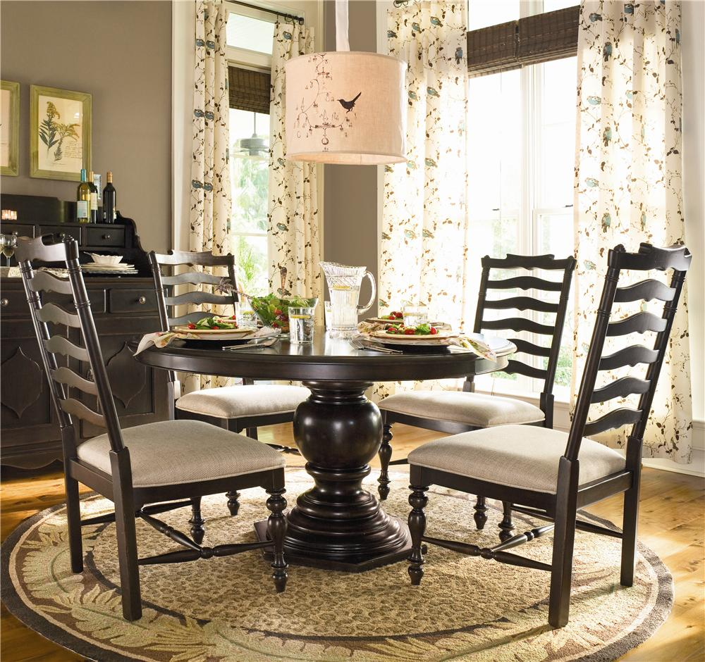 white ladder back chairs rush seats ultimate computer chair universal home round dining table w 4 side belfort furniture 5 piece set