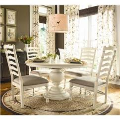 Paula Deen Table And Chairs Best Chair For Back By Universal Home Round Dining W 4 Ladder Side Baer S Furniture 5 Piece Set