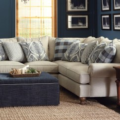 2 Piece Living Room Furniture Fancy Curtains Paula Deen By Craftmaster P711700 Sectional Sofa With Rolled