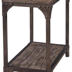 Chair Side Tables With Storage High Back Wooden Chairs Powell Benjamin Industrial Chairside Table One Shelf Wayside