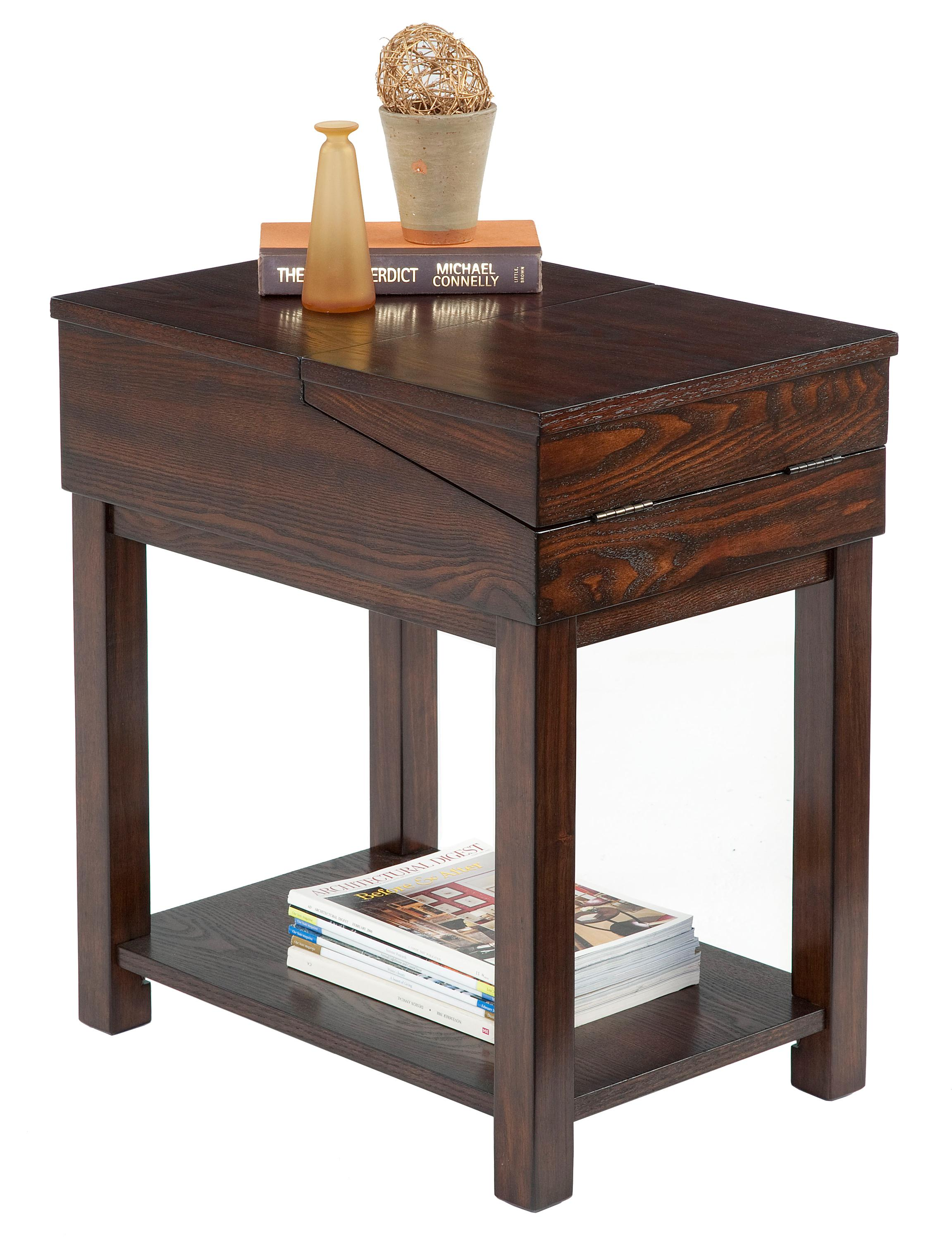 chair side tables with storage tied to progressive furniture chairsides chairside table flip open top