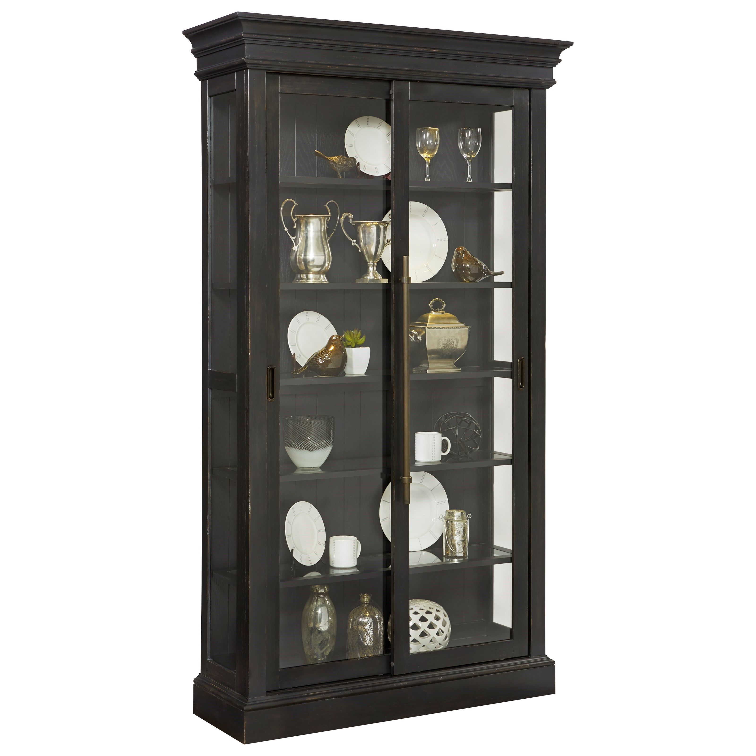 Pulaski Furniture Curios Sliding Door Curio in Charcoal