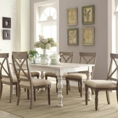 Farmhouse Dining Room Chairs Chair Stand Test Reference Values Riverside Furniture Aberdeen 7 Piece Set Johnny Item Number 21250 6x21358