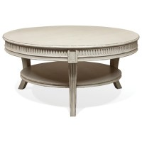 Riverside Furniture Huntleigh Round Cocktail Table | Value ...