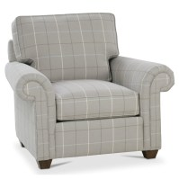 Rowe Morgan Traditional Stationary Chair with Rolled Arms ...