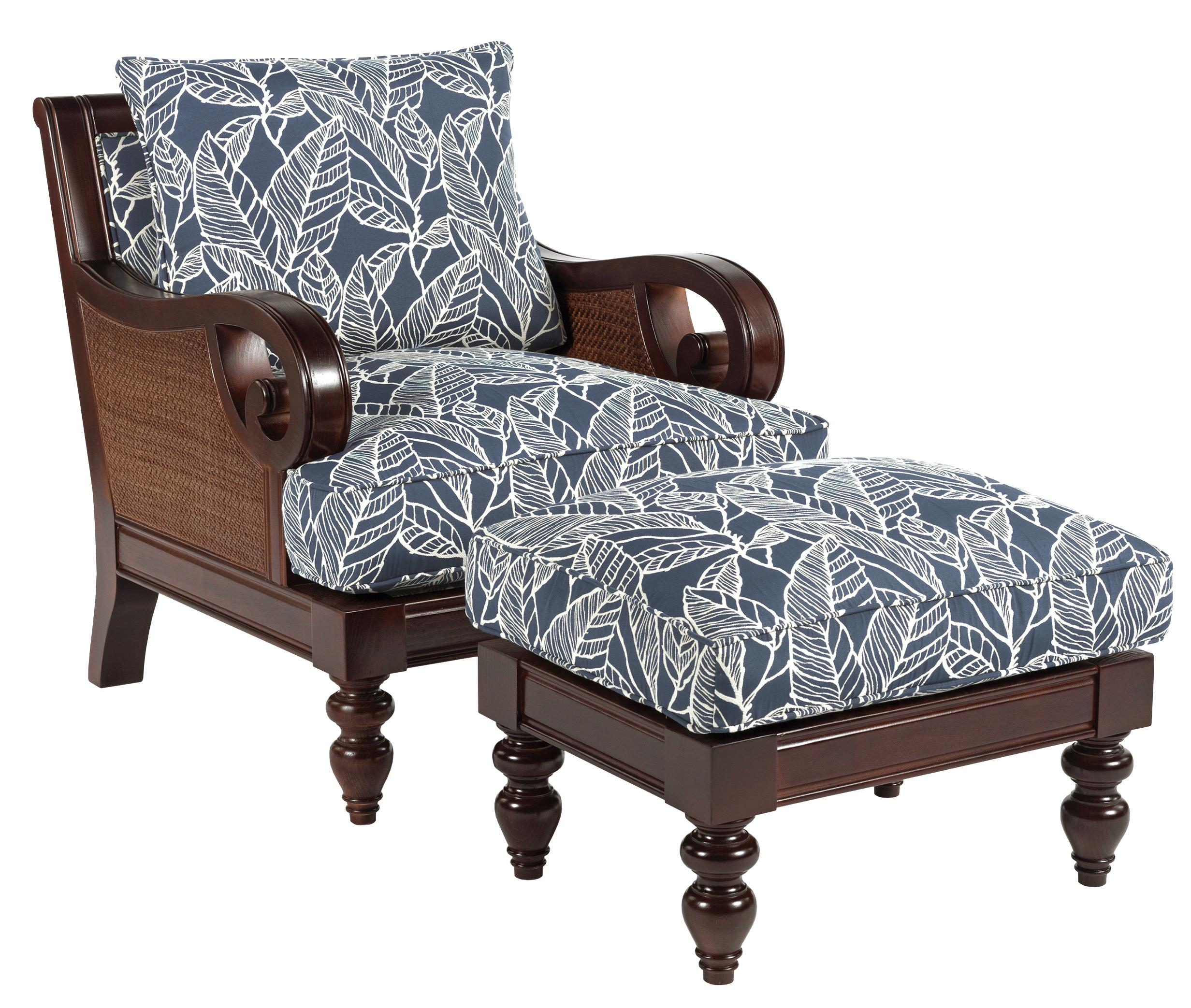 Sam Moore Chairs Sam Moore Tailynn Tropical Exposed Wood Chair And Ottoman Set