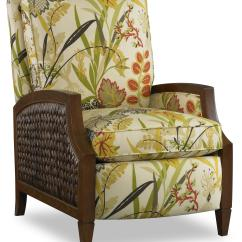 Wicker Recliner Chair Hanging Support Sam Moore Zephyr 5178 Coastal High Leg With Panels