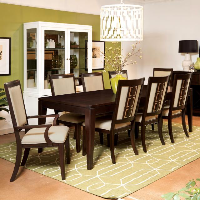 Samuel Lawrence Brighton 9 Piece Contemporary Dining Table Set
